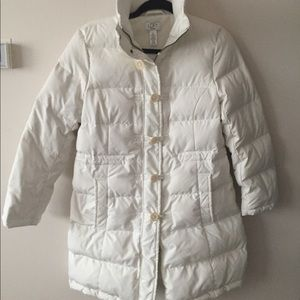Ann Taylor LOFT White down coat small